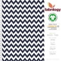 Preview: Serrated pattern - GOTS certified - navy