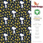 Preview: Snoopy Woodstock-Stars - GOTS zertifiziert - royal blau