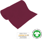 Preview: Organic ribbed fabrics - GOTS - bordeaux