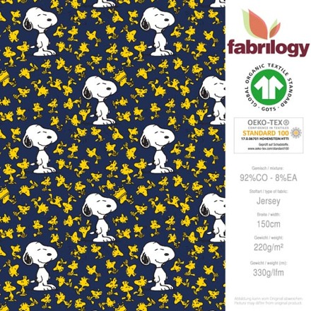3017 600 fabrilogy gots snoopy_woodstock stars