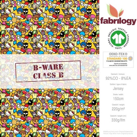 ***B-WARE*** Kitty multicolored small - GOTS certified - yellow