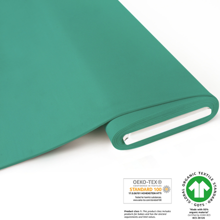 French Terry brushed uni - GOTS certified - mint