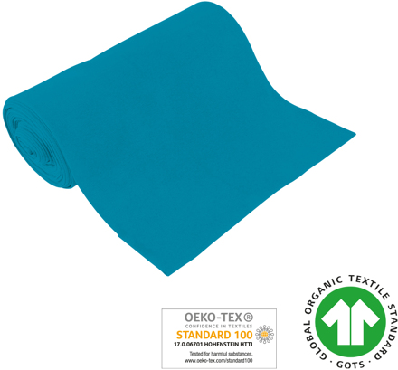 Cuff uni - GOTS certified - turquoise