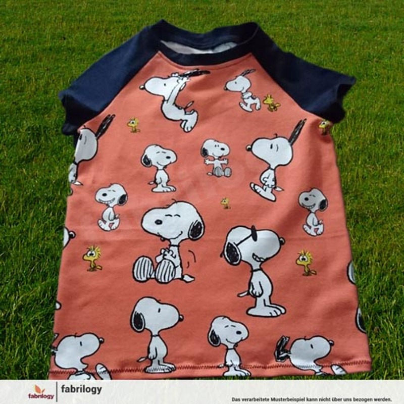 Snoopy Jump - GOTS certified - black