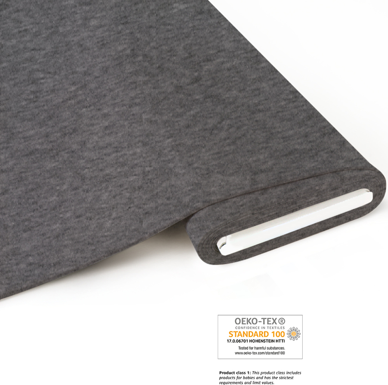 French Terry brushed melange - grey