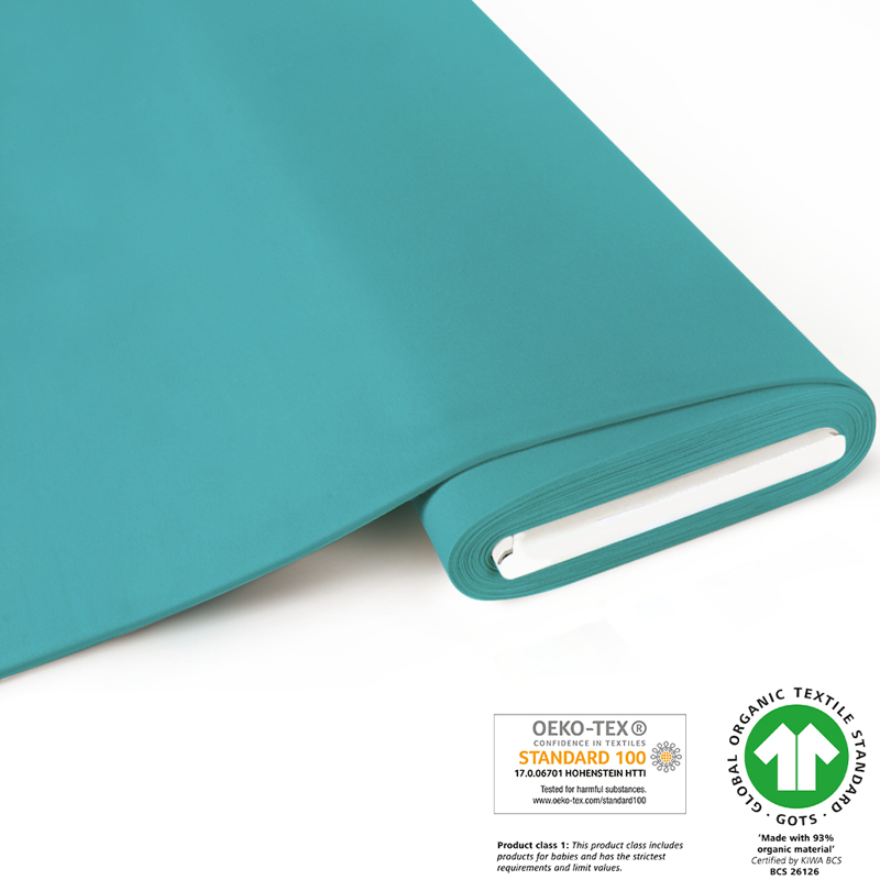 fabrilogy gots coupon 670 light turquoise