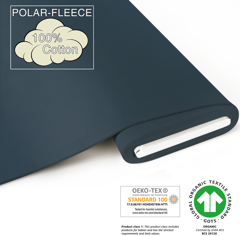 fabrilogy gots polar_fleece coupon 610 indigo