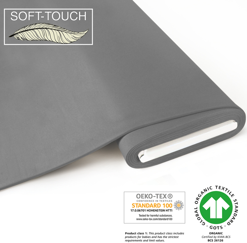 fabrilogy gots soft_touch coupon 180 grey