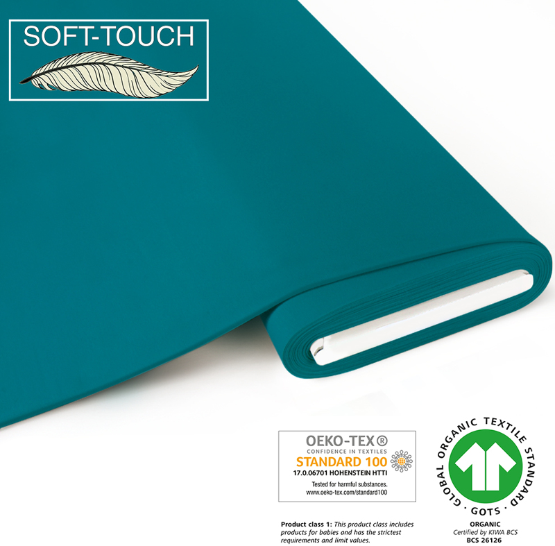 fabrilogy gots soft_touch coupon 760 light petrol blue