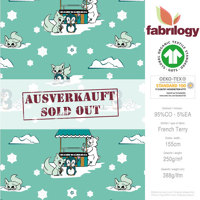 Winterland - GOTS zertifiziert - mint - French Terry