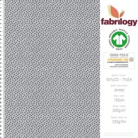 Dots pattern - GOTS certified - light gray(melange-optic)