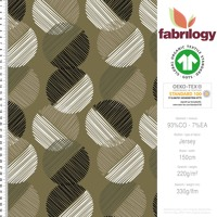 Spheres striped - GOTS certified - olive green