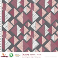 Tangram - GOTS certified - grey-pink-wine red