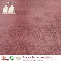 Jeanslook (French Terry) - GOTS cert. - rosewood