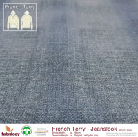 Jeanslook (French Terry) - GOTS zert. - denim
