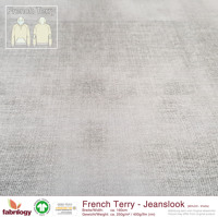 Jeanslook (French Terry) - GOTS cert. - stone-grey