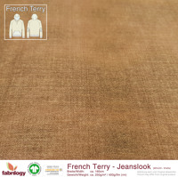 Jeanslook (French Terry) - GOTS cert. - savannah
