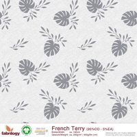 ***NEU*** Monstera deliciosa (French Terry) - GOTS zert. - grey