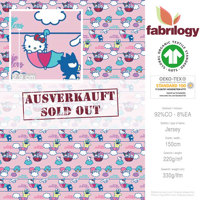 Hello Kitty & Friends 1 - GOTS zertifiziert - hellrosa