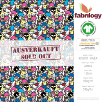 Hello Kitty & Friends 5 - GOTS zertifiziert - rosa