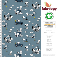 *REPRINT* Snoopy Cabrio - GOTS certified - denim