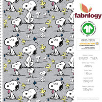 Snoopy Faces - GOTS certified - light grey (melange optic)