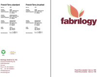 Farbkarte - Bio French Terry standard & brushed