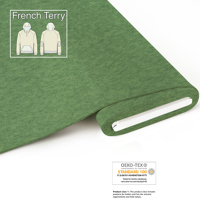Organic French Terry - meliert-green