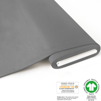 French Terry brushed uni - GOTS certified - grey
