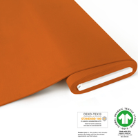 French Terry brushed uni - GOTS zertifiziert - orange