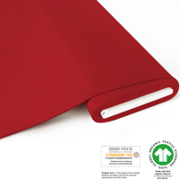 Organic Jersey - GOTS certified - cherry-red