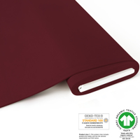 ***NEU*** Bio French Terry brushed uni - GOTS zertifiziert - dunkel-bordeaux