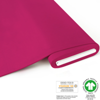 French Terry brushed uni - GOTS certified - pink