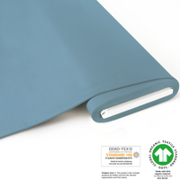 French Terry brushed uni - GOTS certified - sky blue