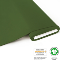 French Terry brushed uni - GOTS certified - dark green