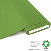 French Terry brushed uni - GOTS certified - frog green