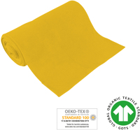 Cuff uni - GOTS certified - yellow