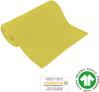 Organic ribbed fabrics - GOTS - lemon