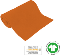 Cuff uni - GOTS certified - orange