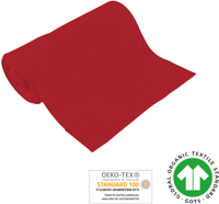 Cuff uni - GOTS certified - red