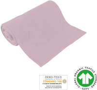 Cuff uni - GOTS certified - light pink