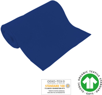 Cuff uni - GOTS certified - royal blue