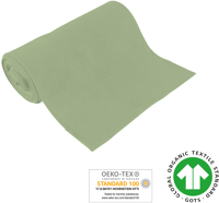 Cuff uni - GOTS certified - foam green