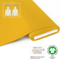 Organic French Terry - GOTS cert. - yellow