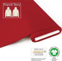 Organic French Terry - GOTS cert. - red