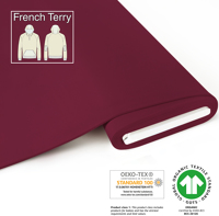 Organic French Terry - GOTS cert. - bordeaux