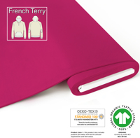 Organic French Terry - GOTS cert. - pink