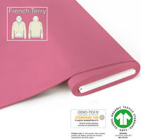 Organic French Terry - GOTS cert. - bright-pink