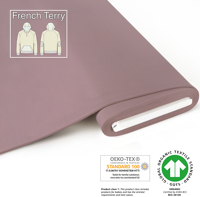 Organic French uni - GOTS cert. - antique-pink