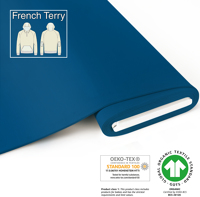 Organic French Terry - GOTS cert. - blue